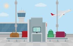 Ανιχνευτής ασφάλειας αποσκευών αερολιμένων Στοκ εικόνα με δικαίωμα ελεύθερης χρήσης