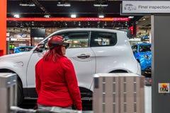 Αννόβερο, Γερμανία - 2 Απριλίου 2019: ΡΑΨΤΕ Eurodrive παρουσιάζει την παραγωγή του νέου ηλεκτρικού Ε ΠΗΓΑΙΝΕΤΕ αυτοκίνητο στοκ φωτογραφία με δικαίωμα ελεύθερης χρήσης