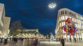 Αννόβερο, Γερμανία - 10 Ιανουαρίου 2018: Το τετράγωνο Kroepcke είναι ένας δημοφιλής χώρος συνάντησης που βρίσκεται στο στο κέντρο φιλμ μικρού μήκους