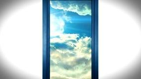 Ανοίγοντας πόρτα ουρανού μετά θάνατον ζωής διανυσματική απεικόνιση