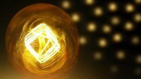 Ανοίξτε και κλείστε στη σε αργή κίνηση, αναδρομική εκλεκτής ποιότητας λάμπα φωτός με την παλαιά τεχνολογία με την ίνα ενσωματωμέν φιλμ μικρού μήκους