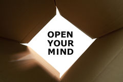 Ανοίξτε την έννοια μυαλού σας στοκ εικόνα