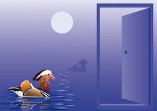 Ανοίξτε την πόρτα στην εγγενή φύση ελεύθερη απεικόνιση δικαιώματος