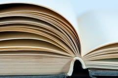 Ανοιγμένες παλαιές κενές σελίδες βιβλίων που απομονώνονται στο λευκό Στοκ Εικόνες