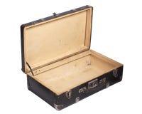 Ανοιγμένη αναδρομική βαλίτσα Στοκ εικόνα με δικαίωμα ελεύθερης χρήσης