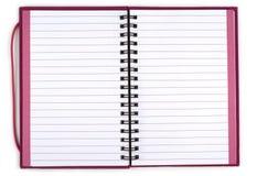 ανοιγμένη σημειωματάριο σπείρα Στοκ Εικόνα