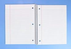 ανοιγμένη σημειωματάριο σπείρα Στοκ Φωτογραφίες