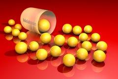 Ανοιγμένοι melatonin κόκκοι καψών withyellow Το Melatonin είναι μια ορμόνη που παράγει από τον κωνοειδή αδένα και ρυθμίζει τον ύπ απεικόνιση αποθεμάτων