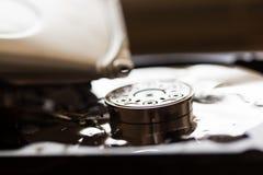 Ανοιγμένος και σπασμένος το σκληρό δίσκο Στοκ Εικόνα
