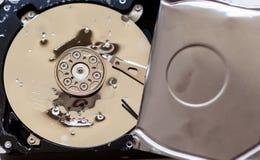 Ανοιγμένος και σπασμένος το σκληρό δίσκο Στοκ φωτογραφία με δικαίωμα ελεύθερης χρήσης