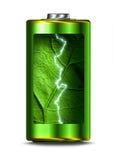 Ανοιγμένος πράσινος σπινθήρας ενεργειακής ισχύος της μπαταρίας απεικόνιση αποθεμάτων