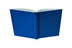 Ανοιγμένο βιβλίο με την μπλε σκληρή κάλυψη Στοκ Φωτογραφία