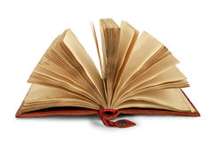 Ανοιγμένο εκλεκτής ποιότητας βιβλίο με τη σύσταση grunge Στοκ Εικόνες