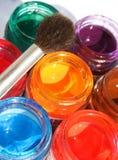 ανοιγμένο κάδοι χρώμα Στοκ εικόνες με δικαίωμα ελεύθερης χρήσης