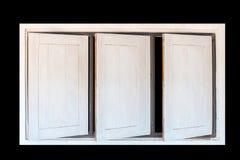 Ανοιγμένο ξύλινο παράθυρο Στοκ Εικόνες