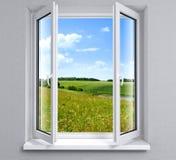 ανοιγμένο παράθυρο Στοκ φωτογραφίες με δικαίωμα ελεύθερης χρήσης
