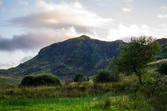 Ανοικτά βουνά στην ουαλλέζικη επαρχία Στοκ Εικόνα