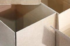 Ανοικτά καφετιά ardboard κιβώτια Ñ  Στοκ φωτογραφία με δικαίωμα ελεύθερης χρήσης