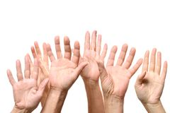 Ανοικτά σημάδια χεριών Στοκ Φωτογραφίες