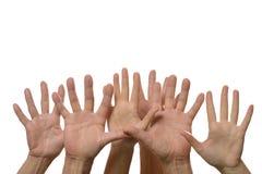 Ανοικτά σημάδια χεριών Στοκ εικόνα με δικαίωμα ελεύθερης χρήσης