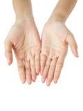 Ανοικτά χέρια. Κράτημα, δόσιμο, που εμφανίζει έννοια Στοκ Φωτογραφία