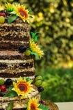 Ανοικτά shortcakes κέικ με τη ζάχαρη ηλίανθων Στοκ εικόνα με δικαίωμα ελεύθερης χρήσης