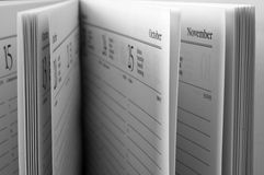 ανοικτές σελίδες ημερήσ& Στοκ φωτογραφία με δικαίωμα ελεύθερης χρήσης