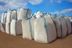 Ανοικτή αποθήκη εμπορευμάτων των μεγάλων τσαντών στοκ εικόνα