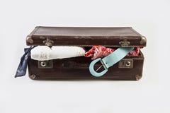 Ανοικτή βαλίτσα Στοκ εικόνα με δικαίωμα ελεύθερης χρήσης