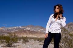 ανοικτή γυναίκα ερήμων στοκ εικόνα με δικαίωμα ελεύθερης χρήσης