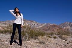 ανοικτή γυναίκα ερήμων στοκ φωτογραφίες