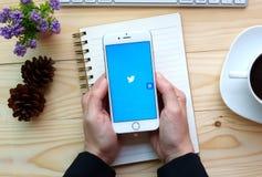 Ανοικτή εφαρμογή πειραχτηριών iPhone της Apple 6s Στοκ Φωτογραφίες