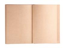 Ανοικτή κενή σελίδα εγγράφου βιβλίων Στοκ Φωτογραφία