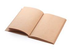 Ανοικτή κενή τραχιά σύσταση εγγράφου βιβλίων Στοκ Φωτογραφία