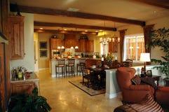 Ανοικτή περιοχή κουζινών σχεδίων στοκ εικόνες