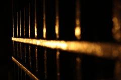 Ανοικτή πύλη τη νύχτα στοκ φωτογραφίες με δικαίωμα ελεύθερης χρήσης