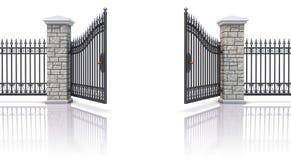 Ανοικτή πύλη σιδήρου Στοκ φωτογραφία με δικαίωμα ελεύθερης χρήσης