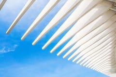 Ανοικτή στέγη του νέου λιμανιού στη Μάλαγα, Ισπανία Στοκ Εικόνα