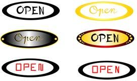 ` Ανοικτοί υπότιτλοι ` με το ελλειπτικό υπόβαθρο Στοκ φωτογραφίες με δικαίωμα ελεύθερης χρήσης