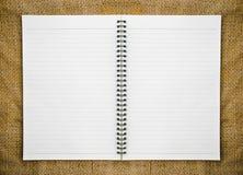 Ανοικτός σύνδεσμος δαχτυλιδιών ημερολογίων Στοκ φωτογραφία με δικαίωμα ελεύθερης χρήσης