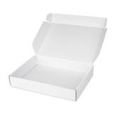 Ανοικτό άσπρο κενό κιβώτιο πιτσών χαρτοκιβωτίων Στοκ εικόνα με δικαίωμα ελεύθερης χρήσης