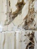 Ανοικτό λατομείο του άσπρου μαρμάρου Στοκ Εικόνα