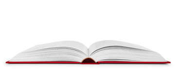 Ανοικτό βιβλίο σε μια κόκκινη κάλυψη Στοκ Φωτογραφία