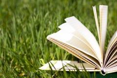 Ανοικτό βιβλίο στη χλόη Στοκ Εικόνες