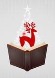Ανοικτό βιβλίο Χριστουγέννων Στοκ Εικόνα