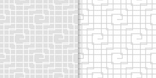 Ανοικτό γκρι γεωμετρικές διακοσμήσεις άνευ ραφής σύνολο προτύπων Στοκ φωτογραφίες με δικαίωμα ελεύθερης χρήσης