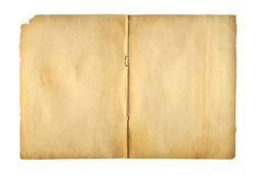 Ανοικτό γράφω-βιβλίο κάλυψης με το συνδετήρα μετάλλων για το αρχείο Στοκ εικόνα με δικαίωμα ελεύθερης χρήσης