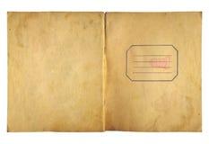 Ανοικτό γράφω-βιβλίο κάλυψης με το συνδετήρα μετάλλων για το αρχείο Στοκ φωτογραφία με δικαίωμα ελεύθερης χρήσης