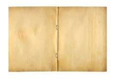 Ανοικτό γράφω-βιβλίο κάλυψης με το συνδετήρα μετάλλων για το αρχείο Στοκ Φωτογραφίες