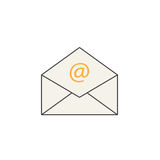 Ανοικτό εικονίδιο γραμμών ταχυδρομείου, που αντιπροσωπεύει το ηλεκτρονικό ταχυδρομείο, φάκελος διανυσματική απεικόνιση